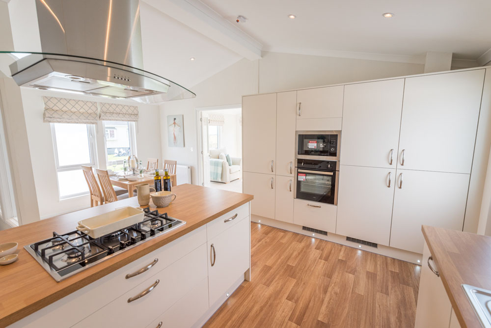 Kitchen of Property of the Month at Yarwell Mill Country Park Home, Peterborough