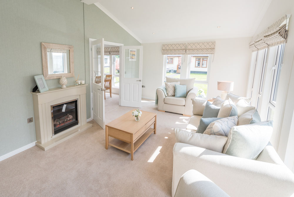 Lounge of Property of the Month at Yarwell Mill Country Park Home, Peterborough
